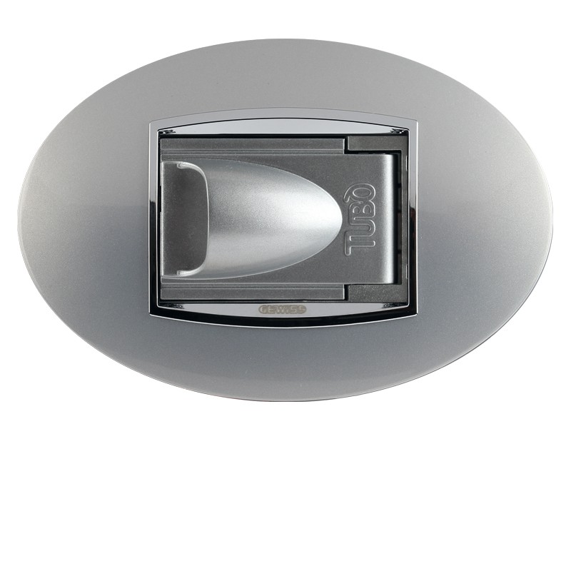 Glossy metallic light grey Normal opening